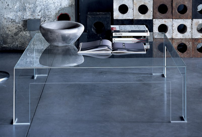 table basse Atlantis Glas Italia chez Issima